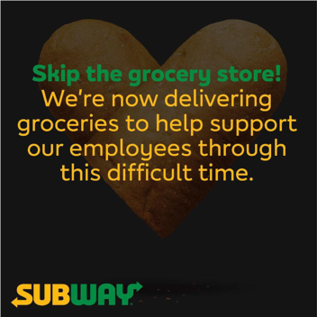 Subway grocery store image